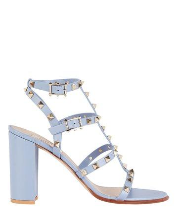 Valentino Garavani Rockstud Gladiator Leather Sandals | INTERMIX®