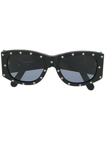 Chanel Pre-Owned star-studded rectangular-frame Sunglasses - Farfetch