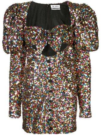 THE ATTICO sequinned mini dress