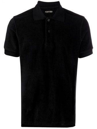 Shop black Tom Ford short-sleeved polo shirt with Express Delivery - Farfetch