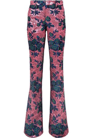 Gucci | Floral brocade flared pants | NET-A-PORTER.COM