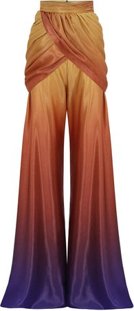 Raisa Vanessa Ombre Satin Wide-Leg Pants