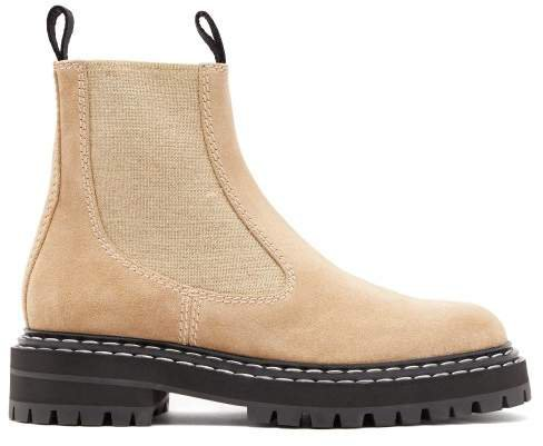 Suede Chelsea Boots - Womens - Beige