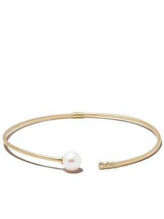 Yoko London Collar Novus En Oro Amarillo De 18kt Con Perla De Agua Dulce y Diamantes - Farfetch