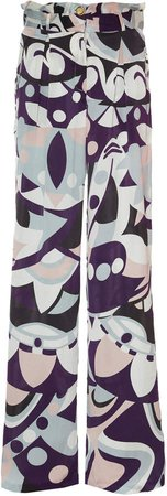 Cin Cin Printed Silk Pants