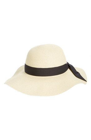 BP. Bow Band Floppy Straw Hat | Nordstrom