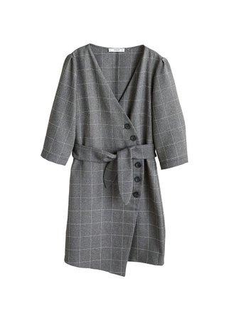 MANGO Buttoned check dress