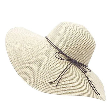 Amazon.com: Floppy Straw Hat Large Brim Sun Hat Women Summer Beach Cap Big Foldable Fedora Hats for Women Girls: Clothing