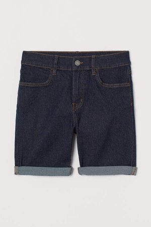 Slim Fit Denim Shorts - Blue