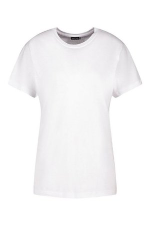 Tall Plain Cotton T-Shirt | boohoo white