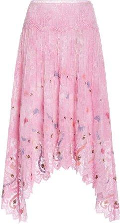 Cassia Cotton Lace Midi Skirt