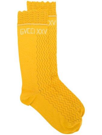 Gucci Logo Embroidered Socks - Farfetch