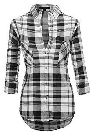 Black and White Women's Flannel