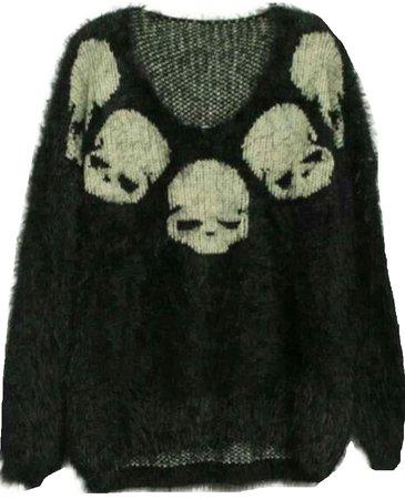 black skull sweater