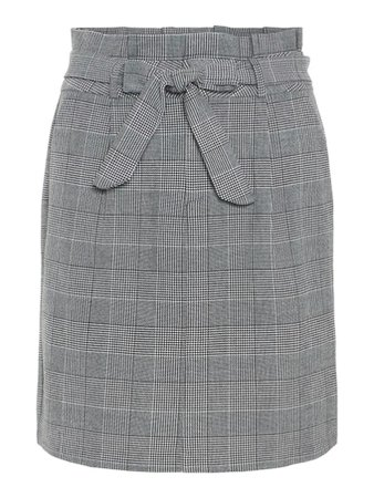 HIGH WAIST PAPER-BAG SKIRT | GREY
