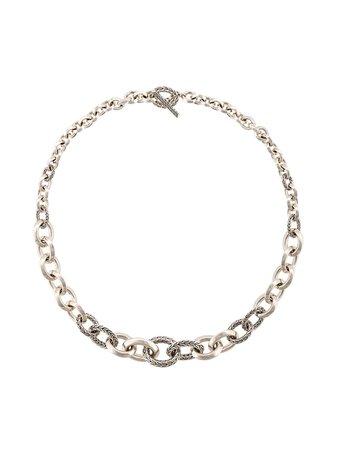 John Hardy Classic Chain Silver Knife Edge Link Necklace Continuity | Farfetch.com