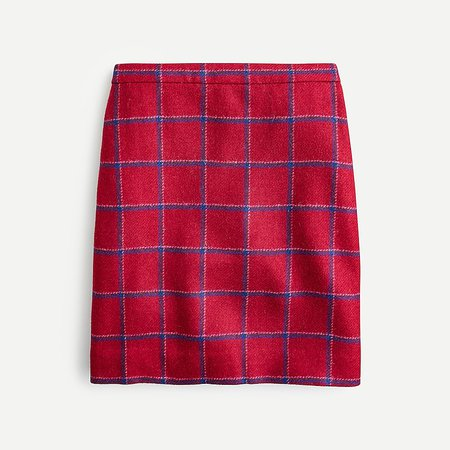 J.Crew: Mini Skirt In Plaid English Wool For Women