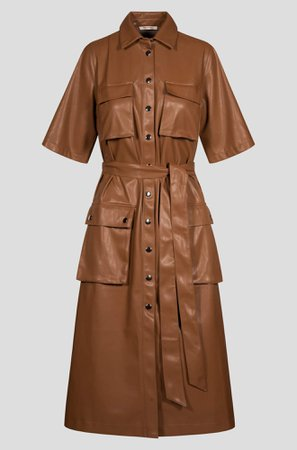 Orsay Midi dress in leather look