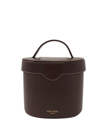 Kitty Argan Brown Leather Cross Body Bag for Women   meli melo Official