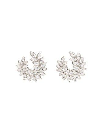Kenneth Jay Lane silver-tone Crystal Clip Earrings - Farfetch