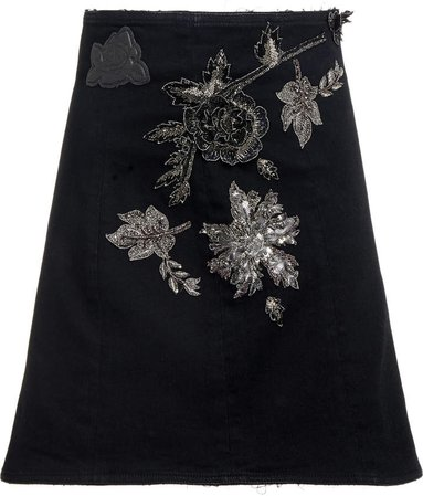 Redemption Embroidered Cotton Mini Skirt
