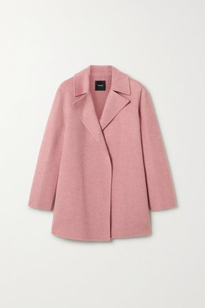 Antique rose Wool coat | Theory | NET-A-PORTER