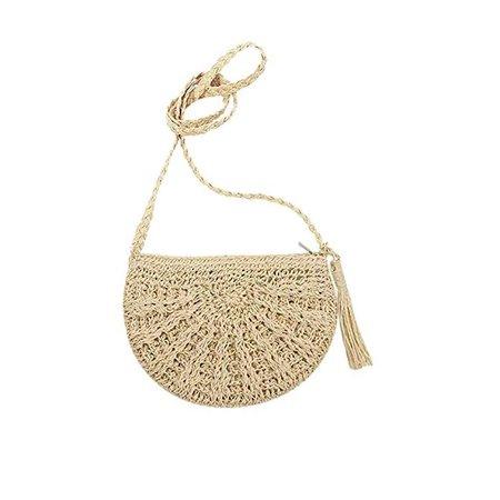 Amazon.com: Orfila Women Straw Bag Fringe Crossbody Purse Woven Shoulder Bag Small Satchel Summer Beach Bag,Beige: Shoes
