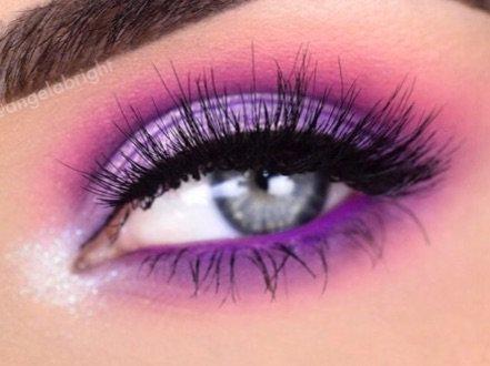 Pink/purple eye makeup