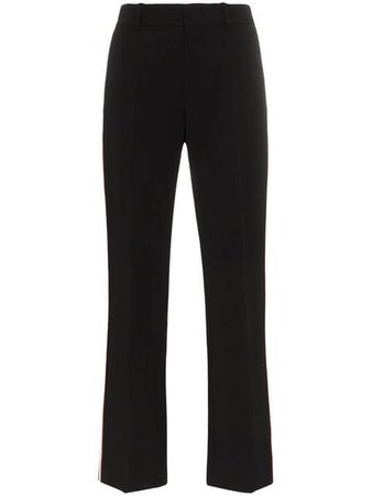 Gucci Contrast Stripe Bootcut Trousers - Farfetch