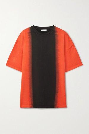 Black Oversized dégradé organic cotton-jersey T-shirt | Ninety Percent | NET-A-PORTER