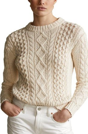 Polo Ralph Lauren Cable Knit Sweater   Nordstrom