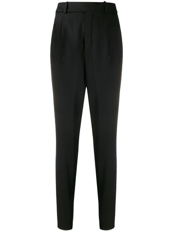 Shop Saint Laurent high-waist tapered trousers with Express Delivery - FARFETCH