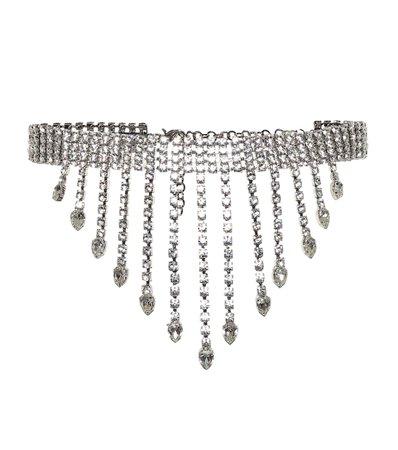 Alessandra Rich Crystal-embellished belt