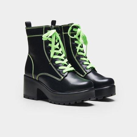 KITANA Green Laced Boots | Koi