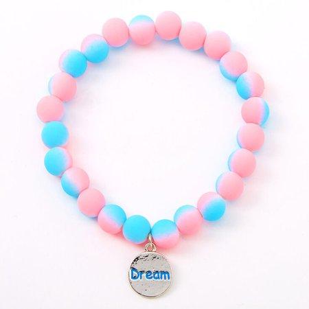 Ombre Matte Dream Beaded Stretch Bracelet | Claire's US