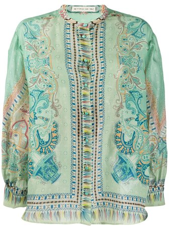 Etro paisley-print Chiffon Shirt - Farfetch