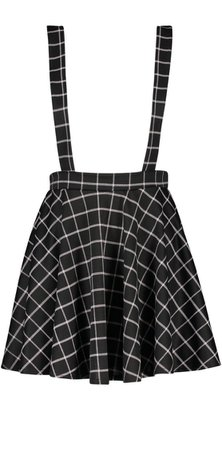 Grid Check Pinafore Skirt | Boohoo