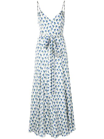 Carolina Herrera, Floral Belted Midi Dress