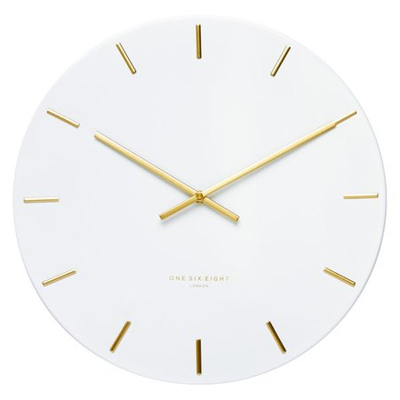 Luca Silent Wall Clock by One Six Eight London | Zanui