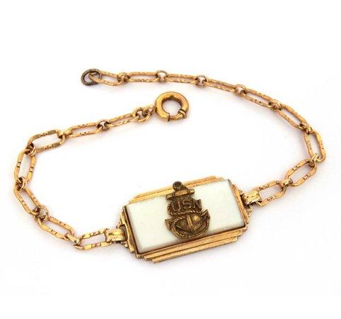 WWII USN Sweetheart Bracelet United States Navy Sterling   Etsy