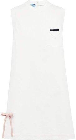 bow detail A-line dress