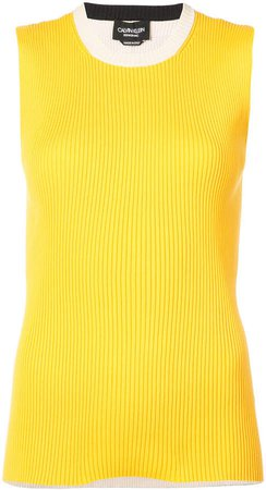 ribbed contrast tank top