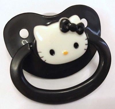 Adult Baby Dummy BLACK ABDL DDLG Sissy Goth Pacifier Paci Binky | eBay