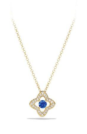 David Yurman Venetian Quatrefoil Necklace with Diamonds in 18K Gold | Nordstrom