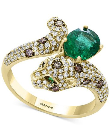 Emerald Cougar Ring