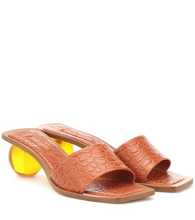 Tao croc-effect leather sandals