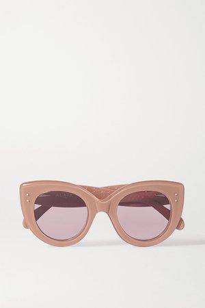 Pink Cat-eye acetate sunglasses | Alaïa | NET-A-PORTER