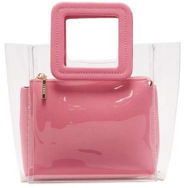 Mini Shirley Pvc And Leather Tote Bag - Womens - Pink Multi