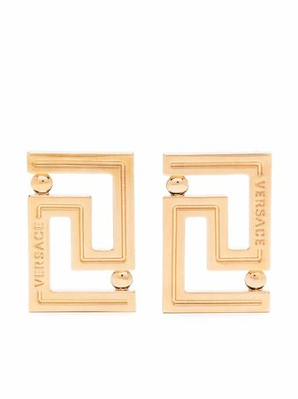 Shop Versace Greca stud earrings with Express Delivery - FARFETCH