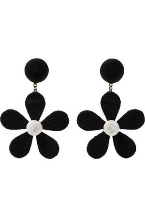 Rebecca de Ravenel | Daisy cord clip earrings | NET-A-PORTER.COM